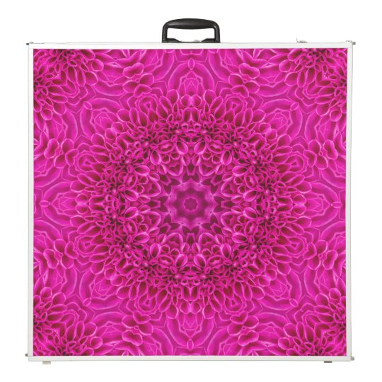 "Pink Flower Vintage Kaleidoscope 96""  Pong Table"