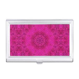 Pink Flower Vintage Kaleidoscope  Card Case
