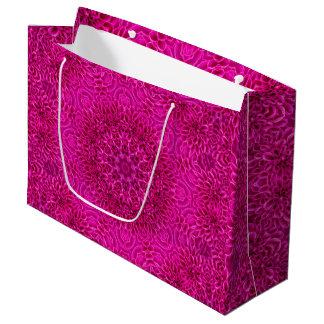 Pink Flower Vintage Kaleidoscope  Gift Bag