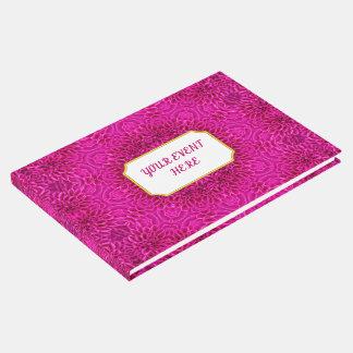 Pink Flower  Vintage Kaleidoscope  Guestbook