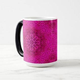 Pink Flower Vintage Kaleidoscope Morphing Mug