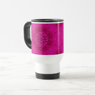Pink Flower Vintage Kaleidoscope  Travel Mug