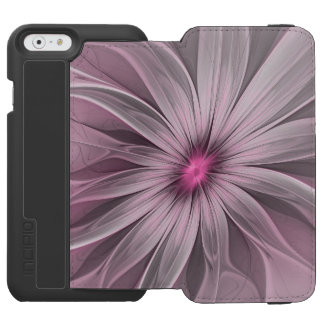 Pink Flower Waiting For A Bee Abstract Fractal Art Incipio Watson™ iPhone 6 Wallet Case