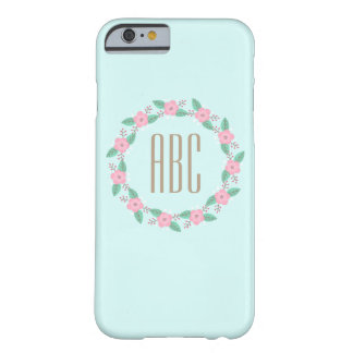 Pink Flower Wreath Initial Personalized Phone Case