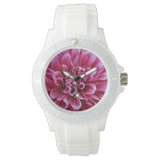 Pink Flower Wristwatch