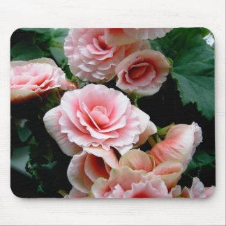 Pink Flowering Begonia Mouse Pad
