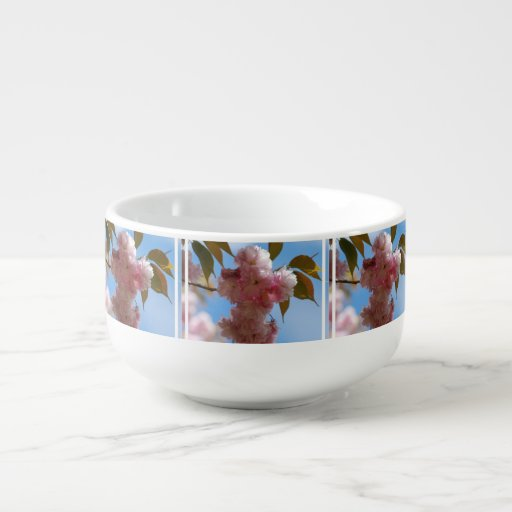 Pink Flowering Cherry Tree Soup Mug