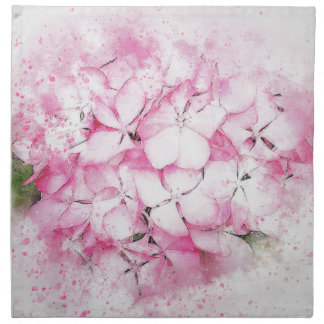 Pink flowers abstract wedding background napkin