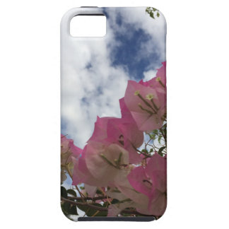 pink flowers against a blue sky iPhone 5 case
