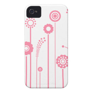 Pink  Flowers and Stalks BlackBerry Bold Case