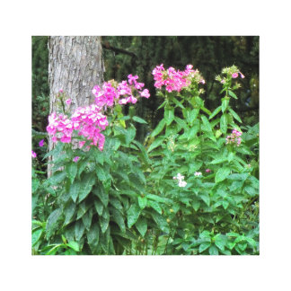 Pink Flowers and Tree wrapped Canvas