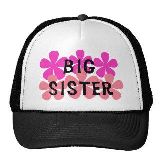 Pink Flowers Big Sister Cap