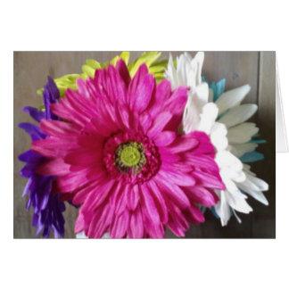 Pink flowers blank card