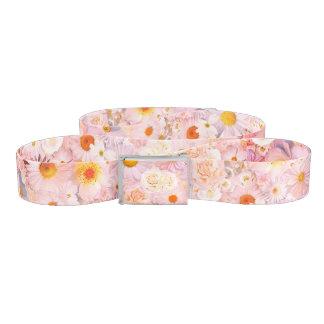 Pink Flowers Bouquet Floral Wedding Bridal Spring Belt