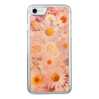Pink Flowers Bouquet Floral Wedding Bridal Spring Carved iPhone 8/7 Case