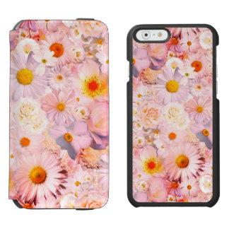 Pink Flowers Bouquet Floral Wedding Bridal Spring Incipio Watson™ iPhone 6 Wallet Case