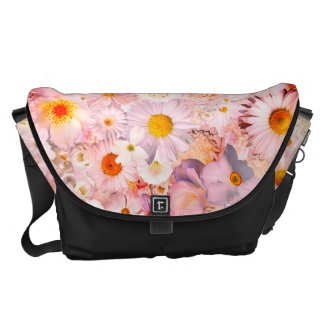 Pink Flowers Bouquet Floral Wedding Bridal Spring Messenger Bags