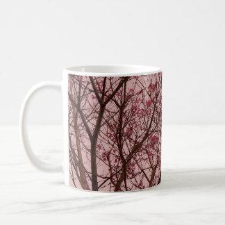 Pink Flowers Branch Coffee Mug