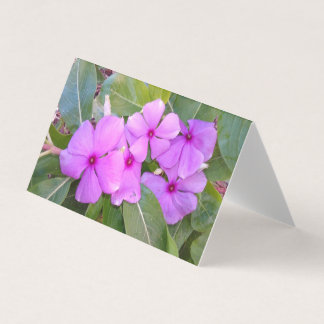 PINK FLOWERS BUSINESS CARD