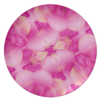 Pink Flowers Coaster Party Plates