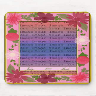 Pink Flowers Custom Mouse Pad