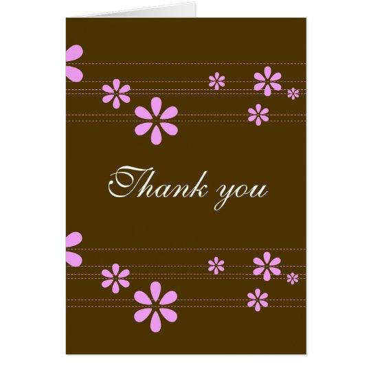Pink Flowers - Customised Card