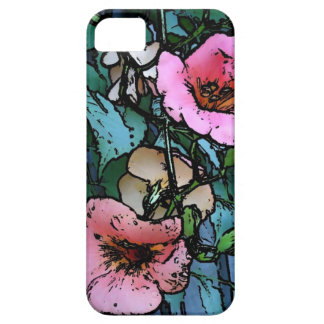 pink flowers digitally photo art phone case case for the iPhone 5