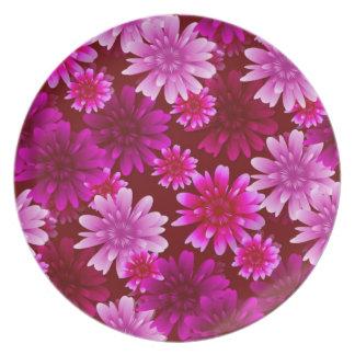 Pink Flowers Dinner Plates