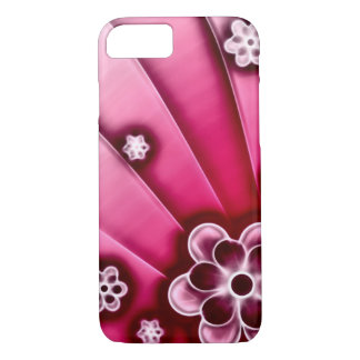 Pink Flowers Fractal iPhone 7 Case