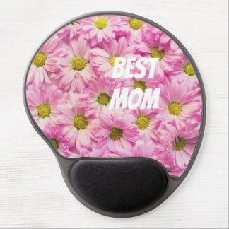 Pink Flowers Gel Mouse Pad