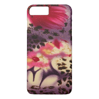 Pink Flowers & Leopard Design iPhone 8 Plus/7 Plus Case