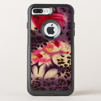 Pink Flowers & Leopard Design OtterBox Commuter iPhone 8 Plus/7 Plus Case