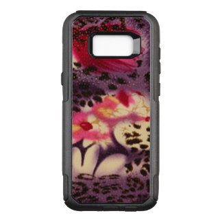 Pink Flowers & Leopard Design OtterBox Commuter Samsung Galaxy S8+ Case