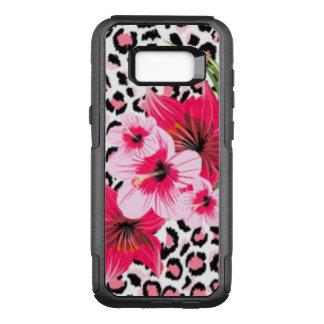 Pink Flowers & Leopard Pattern Design OtterBox Commuter Samsung Galaxy S8+ Case