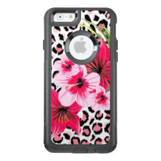 Pink Flowers & Leopard Pattern Print Design OtterBox iPhone 6/6s Case