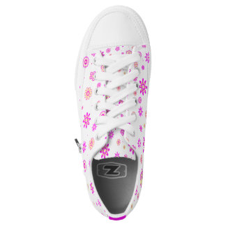 Pink Flowers Low Tops