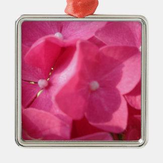 pink flowers metal ornament