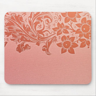 pink flowers mouse pad design
