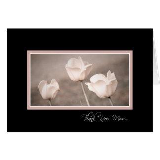 Pink Flowers Mum Wedding Day Thank You Card