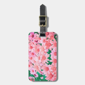 Pink Flowers Nature Luggage Tag