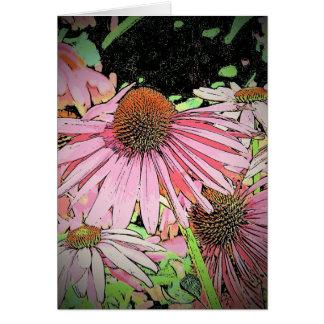 Pink flowers notecard