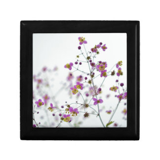 Pink Flowers on Horizon Small Square Gift Box