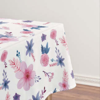 Pink flowers pattern - floral pattern tablecloth