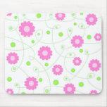 Pink flowers pattern - Mousepad