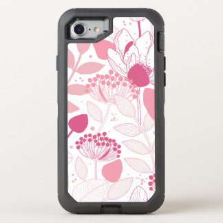 Pink Flowers Pattern Otterbox Iphone 6 OtterBox Defender iPhone 7 Case