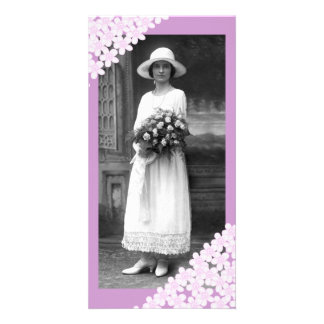 Pink Flowers Photo Card Template