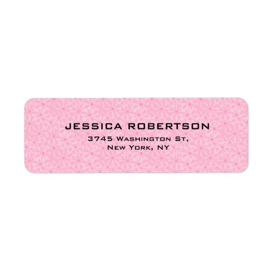 Pink Flowers Plain Elegant Modern Trendy Return Address Label