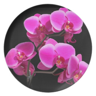 pink flowers dinner plate