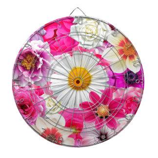 Pink flowers_ Sanchez Glory Dartboard