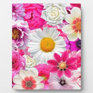 Pink flowers_ Sanchez Glory Plaque